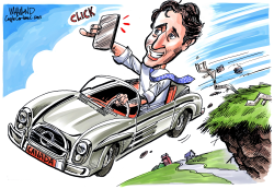 CANADA Trudeau in free fall by Dave Whamond