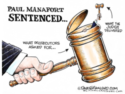 Paul Manafort sentenced by Dave Granlund