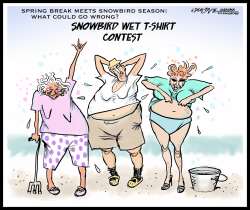 Wet Tshirt contest by J.D. Crowe