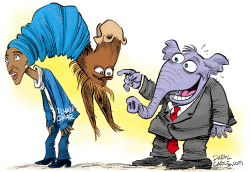 Democrats Wrapped up in Ilhan Omar  by Daryl Cagle