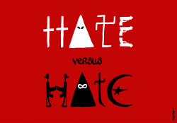 Hate versus Hate by NEMØ