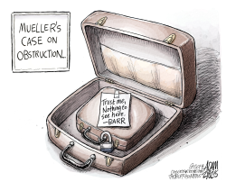 Obstruction of justice by Adam Zyglis