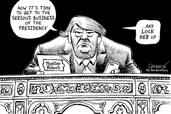 """No collusion"" says Mueller report by Patrick Chappatte"