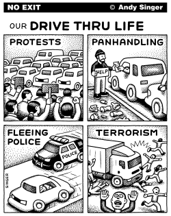 Drive Thru Life Version Two by Andy Singer