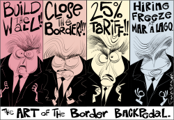 Border Backpedal by Frank Hansen