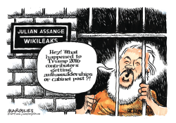Julian Assange arrested by Jimmy Margulies