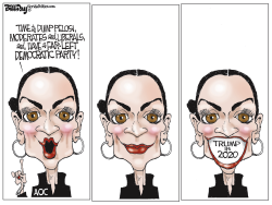 Pelosi and AOC by Bill Day