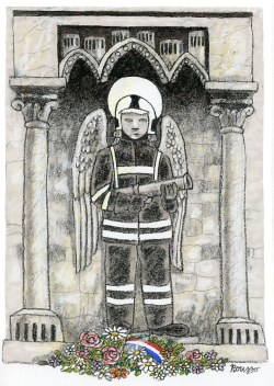 Thanks to the firemen at Notre Dame by Robert Rousso