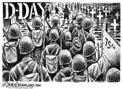 D Day 75th anniversary 1944 2019 by Dave Granlund