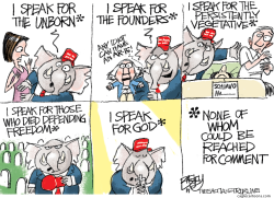 Speaker for the Speechless by Pat Bagley