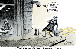 The era of facial recognition by Patrick Chappatte