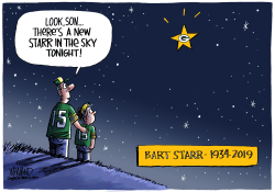 Bart Starr 1934 to 2019 by Dave Whamond