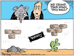 Tariffs and the Republicans by Bob Englehart