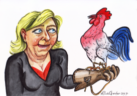 Marine Le Pen by Alla and Chavdar