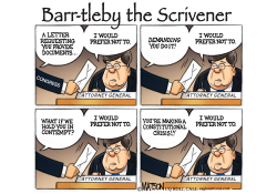 AG Barr As Bartleby The Scrivener by RJ Matson