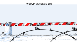 World refugee day by Emad Hajjaj