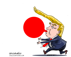 Trump at the Japan G20 Summit by Arcadio Esquivel
