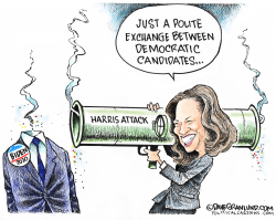 Kamala Harris attacks Biden by Dave Granlund