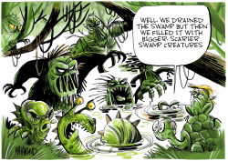 Swamp creatures by Dave Whamond