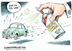 VW Beetle end of line by Dave Granlund