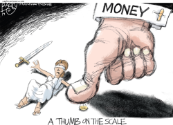Thumb on the Scale by Pat Bagley