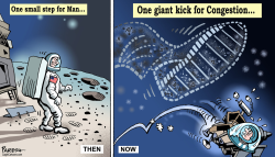 Man on moon 50 years by Paresh Nath