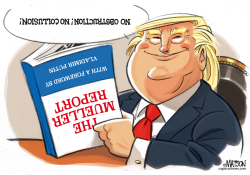 Trump Reads Mueller Report by RJ Matson
