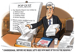 Mueller Report Pop Quiz by RJ Matson