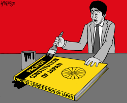 Shinzo Abe fails by Rainer Hachfeld