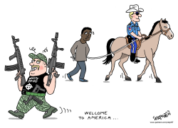 Welcome to America by Stephane Peray