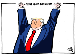 Trump about gunviolence by Tom Janssen