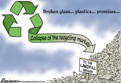 Recycling landfill by Steve Greenberg