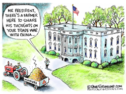 Farmers and Trade War impact by Dave Granlund