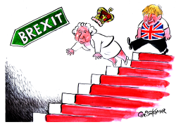 Boris Johnson and the Queen go to BREXIT by Christo Komarnitski