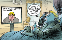 Boris Johnson the disruptor by Patrick Chappatte