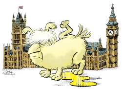Boris Johnson and Parliament by Daryl Cagle