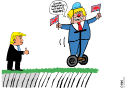 Boris Johnson hard Brexit by Schot