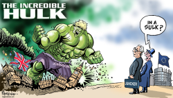 Boris Johnson as Hulk by Paresh Nath