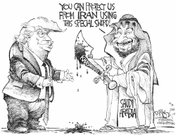 Protecting Saudi Arabia by John Darkow