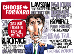 Trudeau Blackface Scandal by Dave Whamond