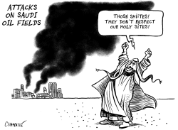 Attacks on Saudi oil fields by Patrick Chappatte