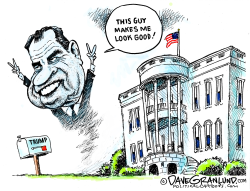 Trump and Nixon by Dave Granlund