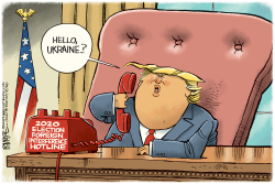 Trump Ukraine Call by Rick McKee