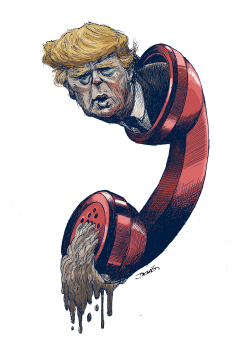 Trump at the pone by Dario Castillejos