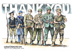 Veterans Thank You by Dave Granlund