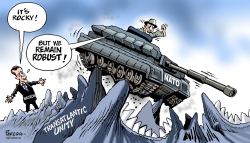 Macron on NATO by Paresh Nath
