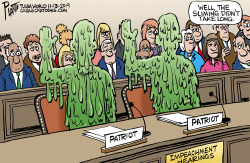 Trump Impeachment hearings by Bruce Plante