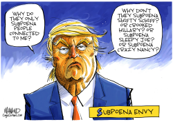 Trump Subpoena Envy by Dave Whamond