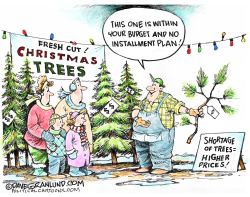 Christmas tree shortage by Dave Granlund