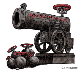 Russian gas weapon by Vladimir Kazanevsky